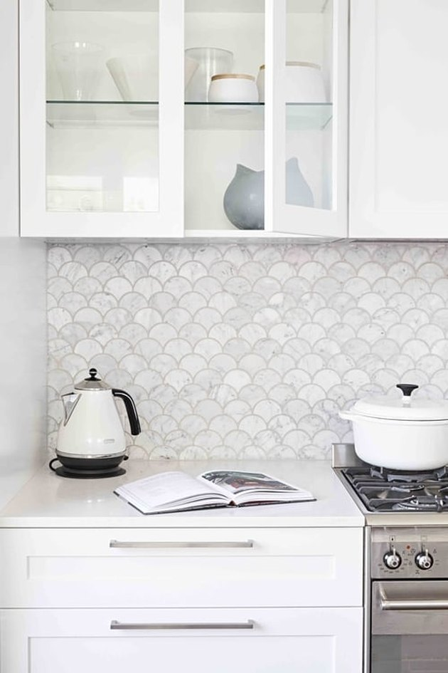 fish scale backsplash