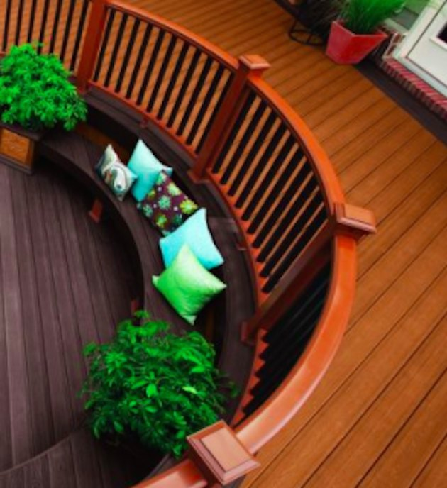 Circular deck railing.