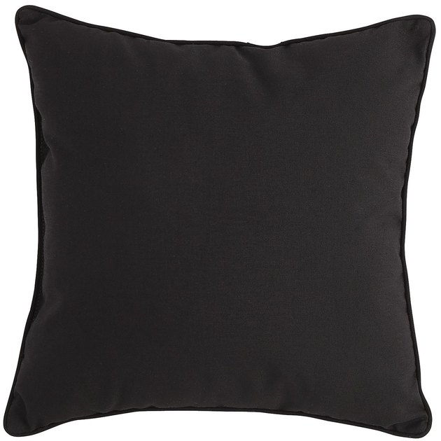 Black square throw pillow