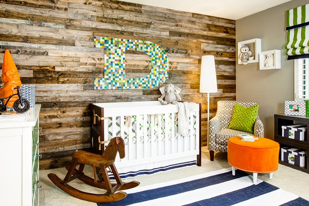 Rustic Modern Baby Room Idea