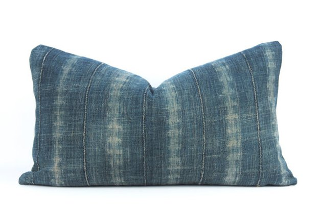 Denim lumbar pillow