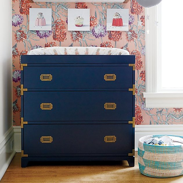 navy blue changing table