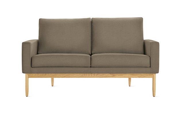 Tan mid-century loveseat