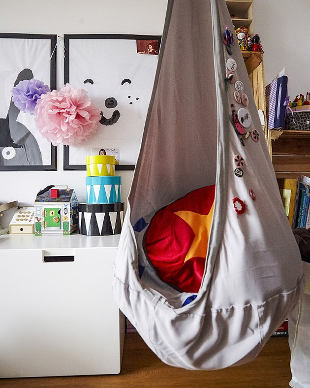 playroom hanging ceiling chair