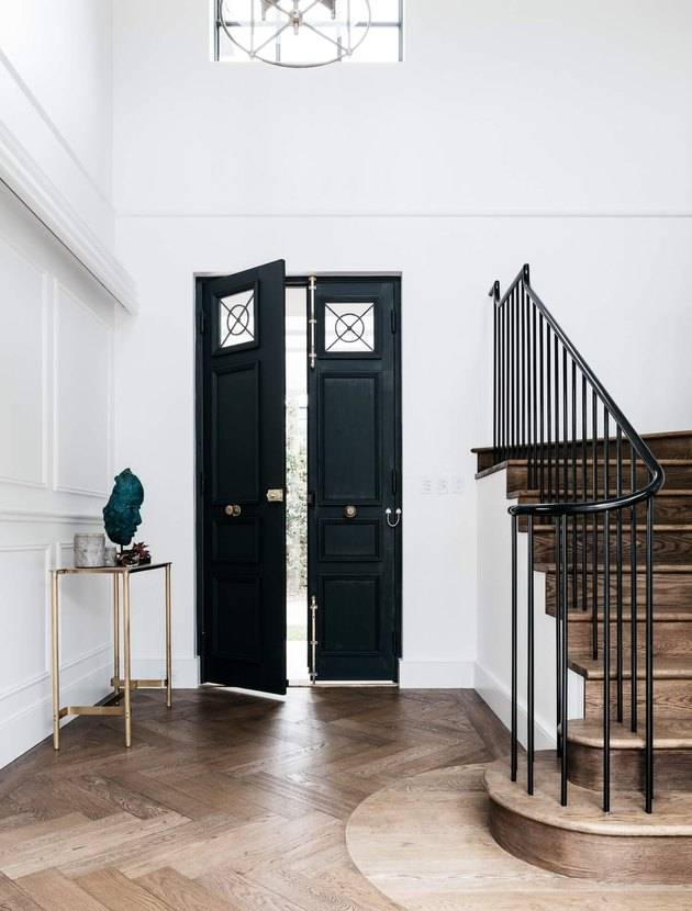 Black double entryway doors