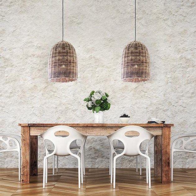 wicker bell pendants