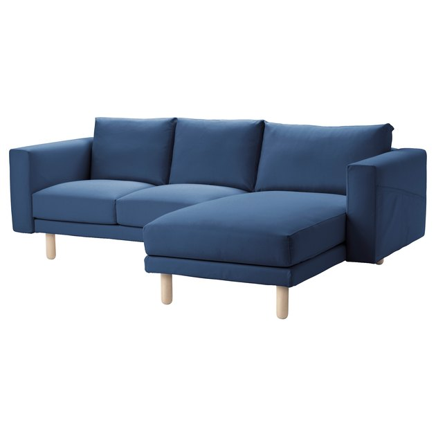 blue ikea couch