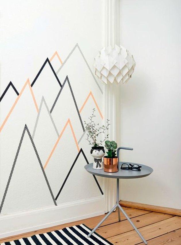 washi tape wall decoration