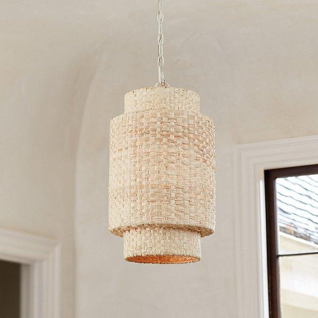 Woven modern pendant light
