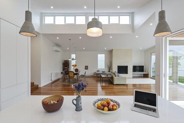concrete pendant lights kitchen island