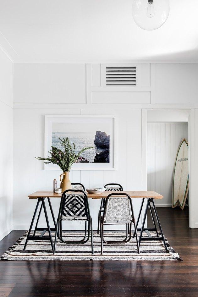 bohemian minimal dining room