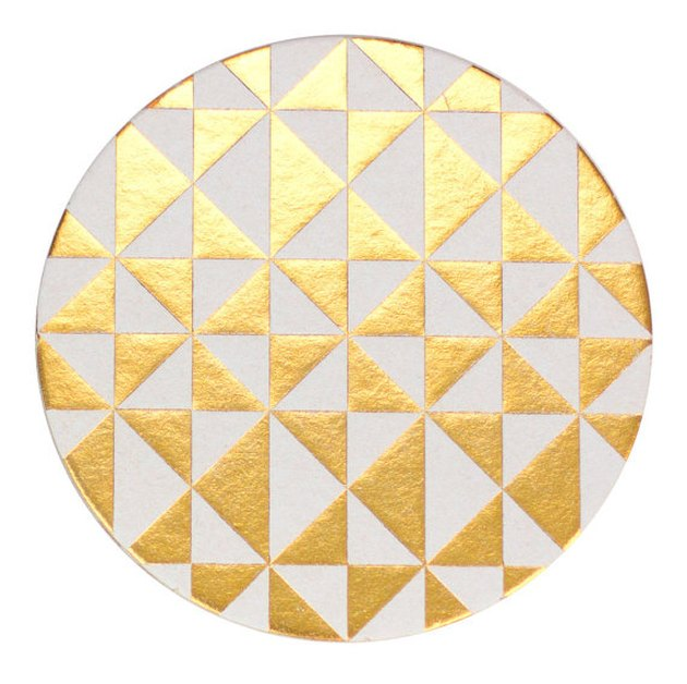 Gold Paper Coasters