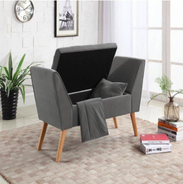grey storage bench Target