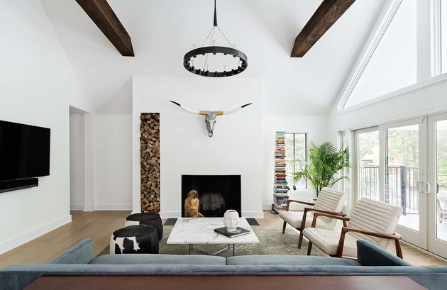 wood beam ceiling