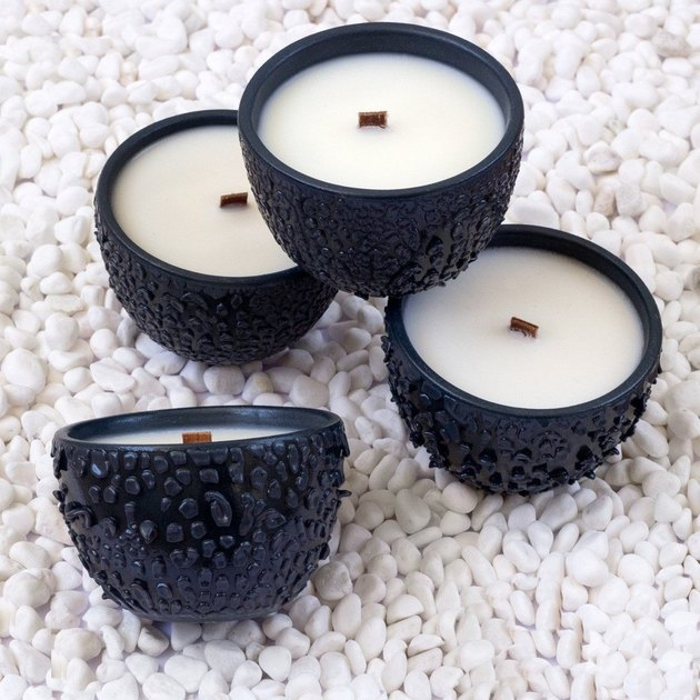 black porcelain bowl candles