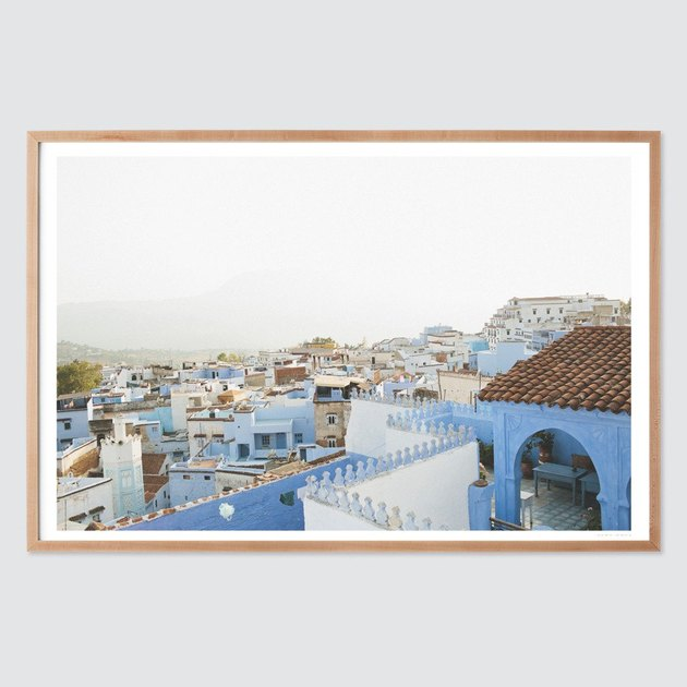 photograph of blue moroccan buildings