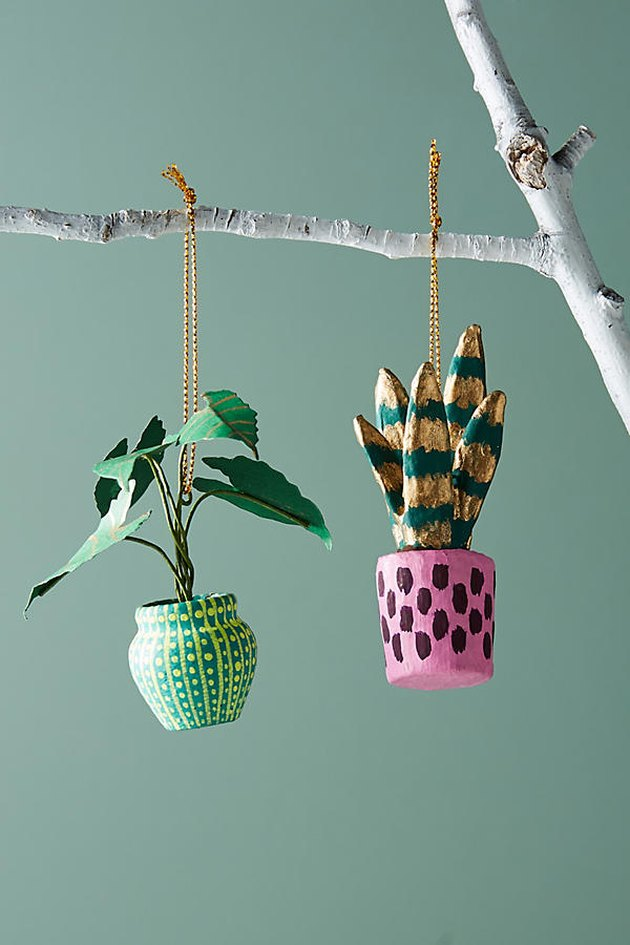 anthropologie house plant ornament