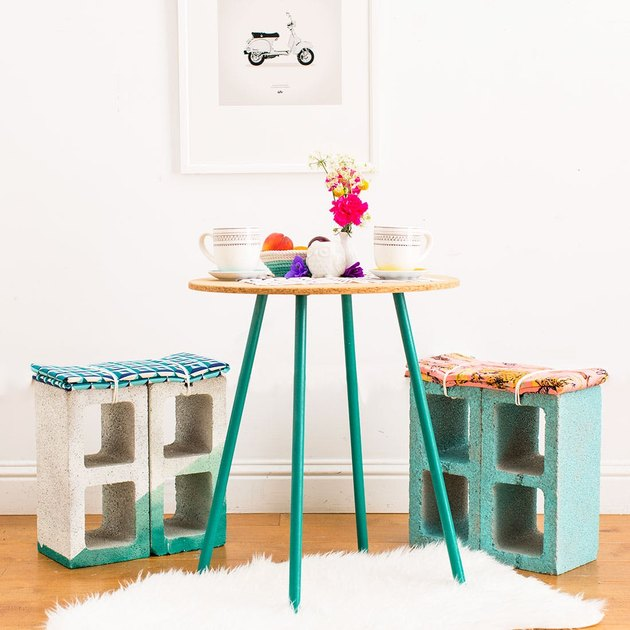 cinderblock stools