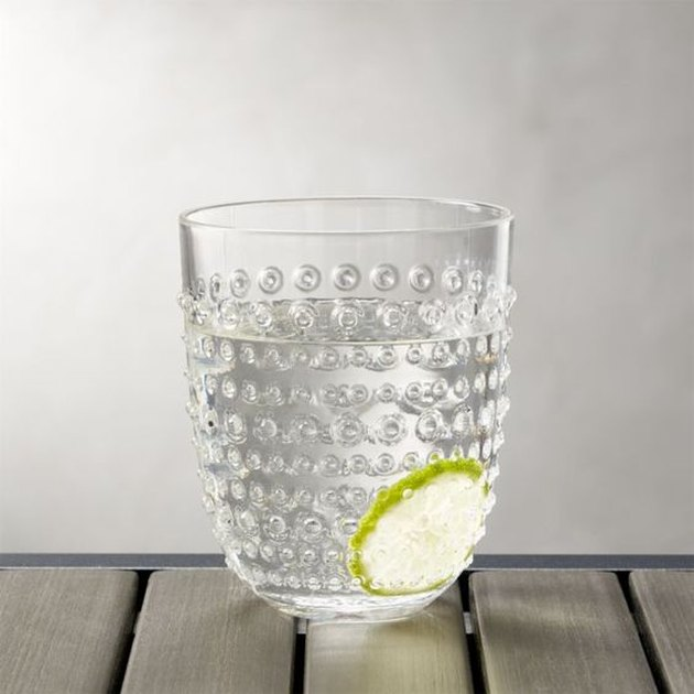 Dottie Clear Acrylic Drinking Glass