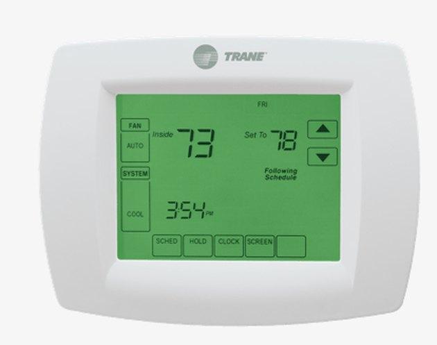 A Trane XL800 thermostat.