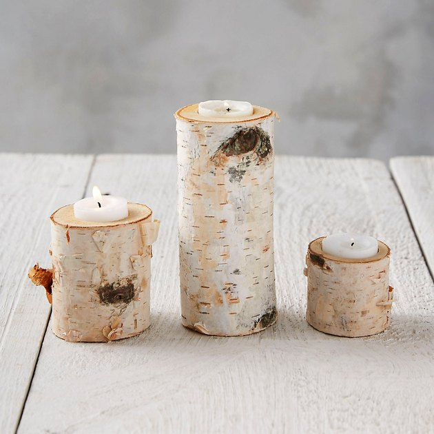 birch tea light holder