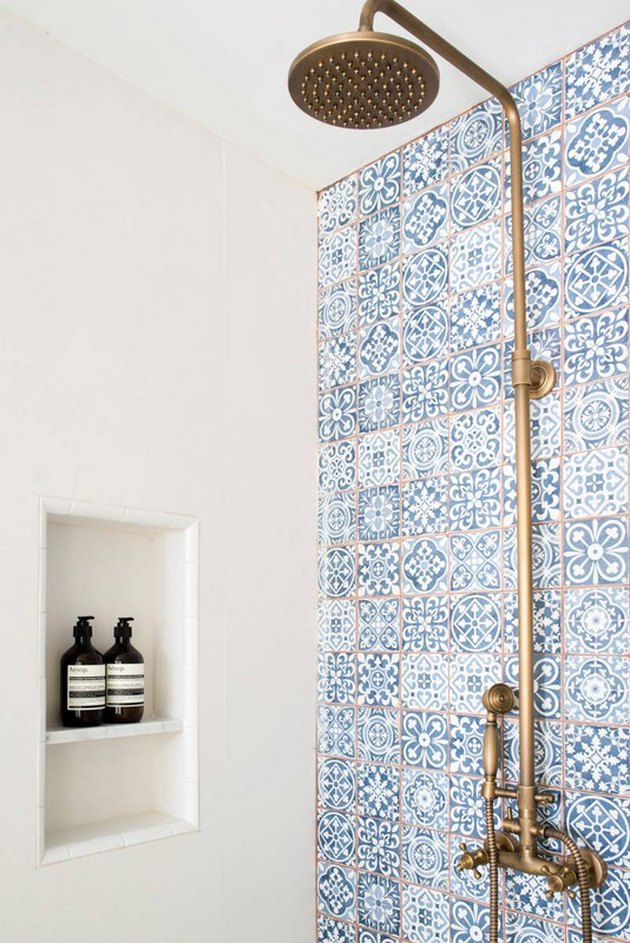 Spanish tile accent wall
