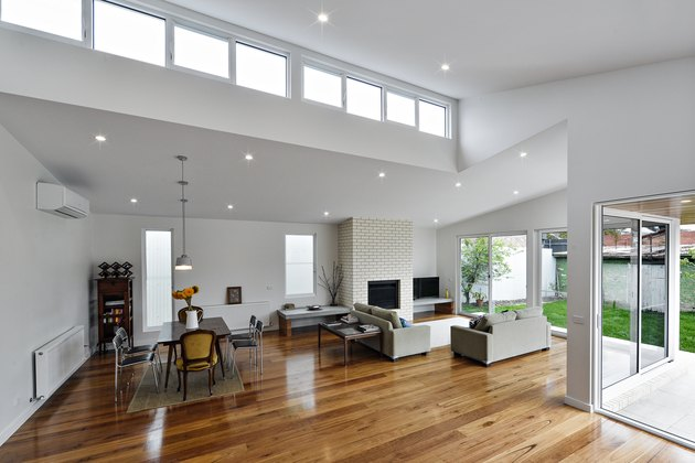 window ceilings dining chairs sofa windows to exterior