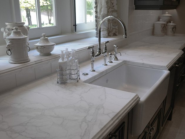 white cultured marble kitchen countertop
