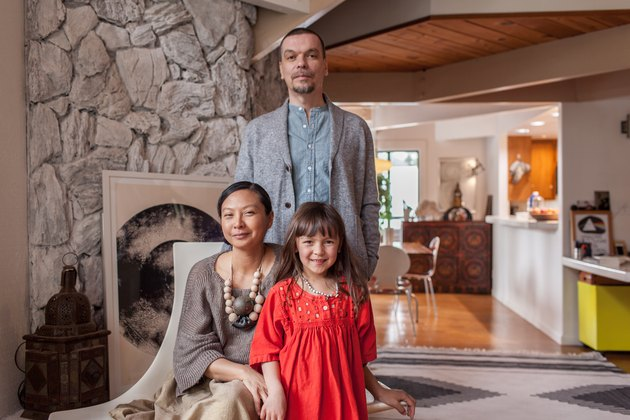 Jo Abellera, Guillaume Wolf and daughter Margaux