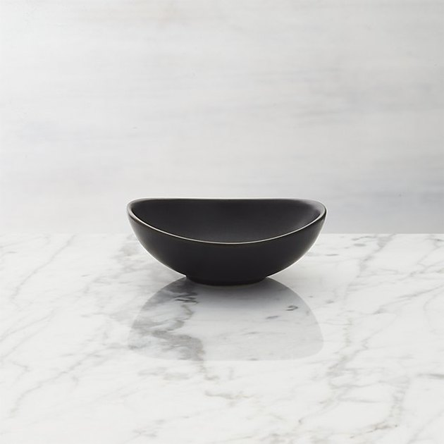 Small decorative matte black bowl