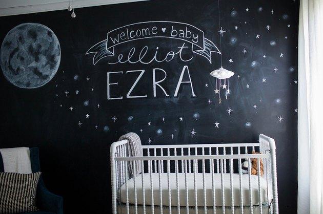 chalboard paint wall nursery