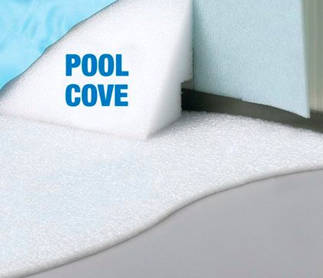 Pool pad with pool cove piece.
