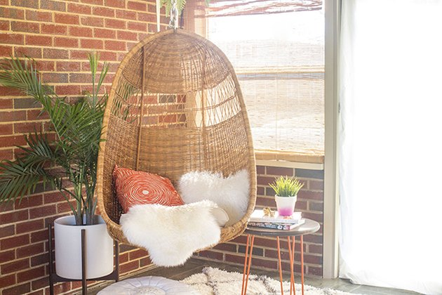 wicker egg chair