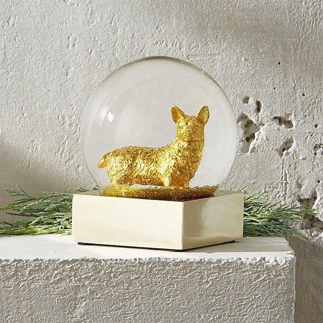corgi snow globe
