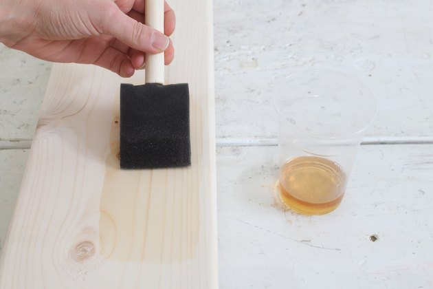Applying Danish oil