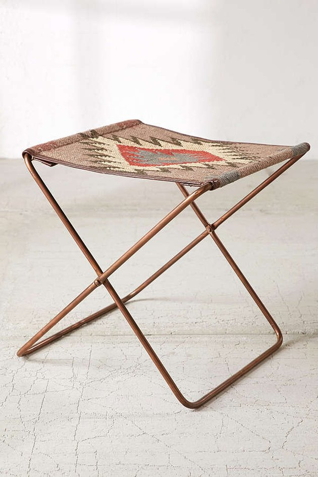 Urban Outfitters kilim folding stool.