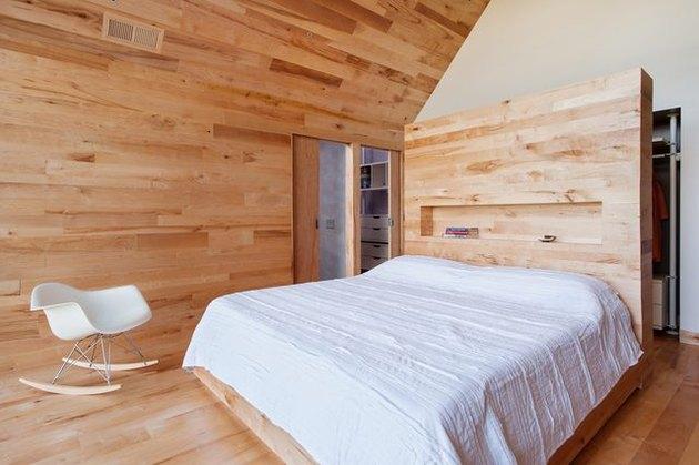 wood room divider