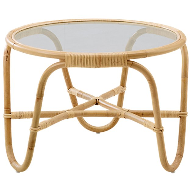 H.D. Buttercup rattan side table.