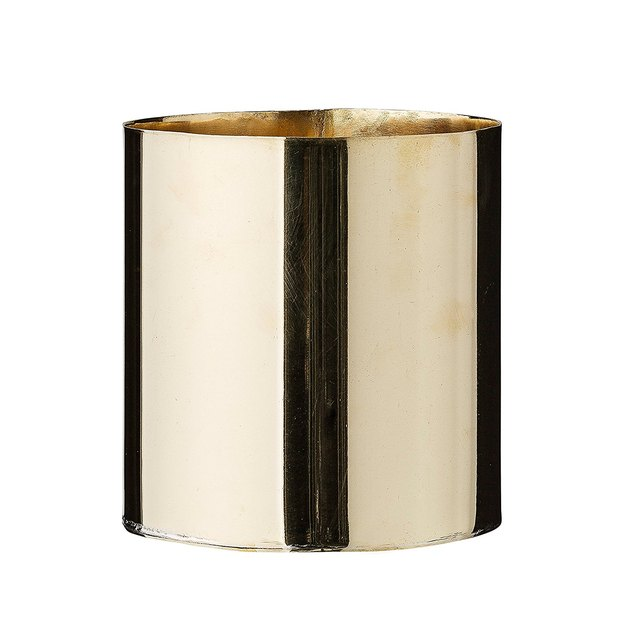 Small gold cylinder planter