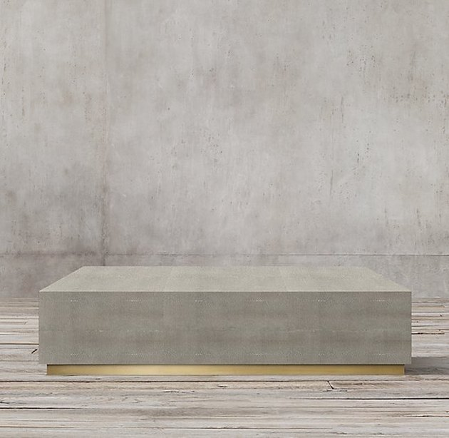 Graydon Shagreen Plinth Square Coffee Table