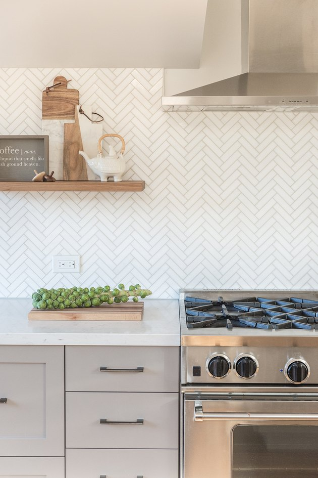 chevron backsplash