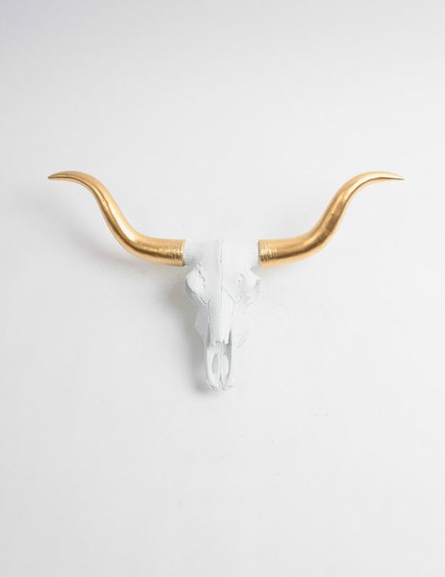Mini White Cow Skull