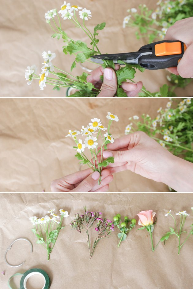 Trimming small flower bunch stems