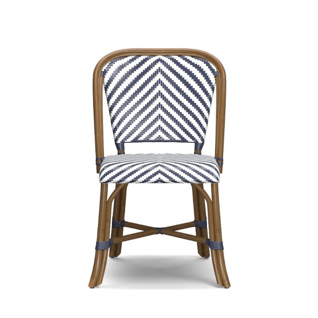 striped bistro chair