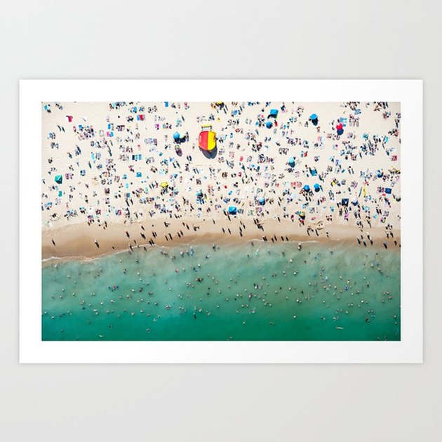 artwork scene of a busy beach