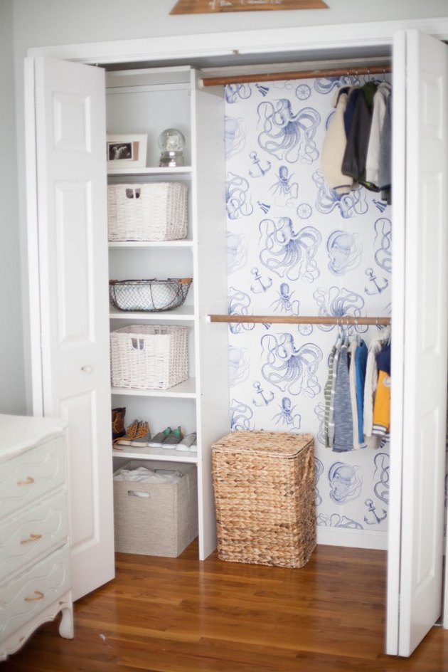 Peel and Stick Wallpaper Closet Interior