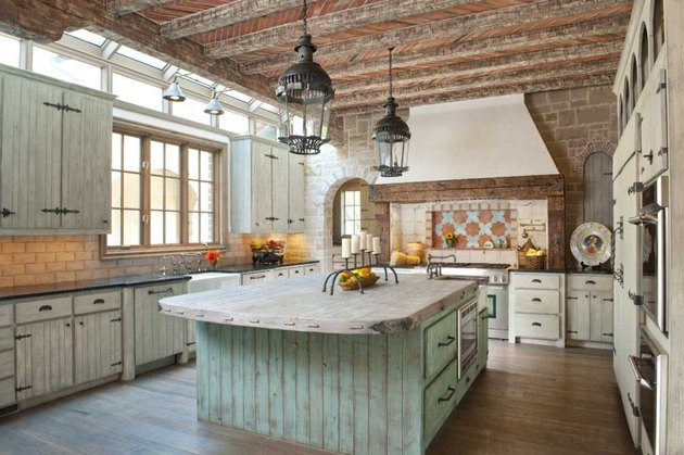 airy spacious italian kitchen