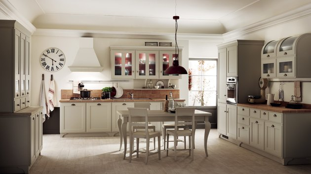 modern italian farmhouse kitchen