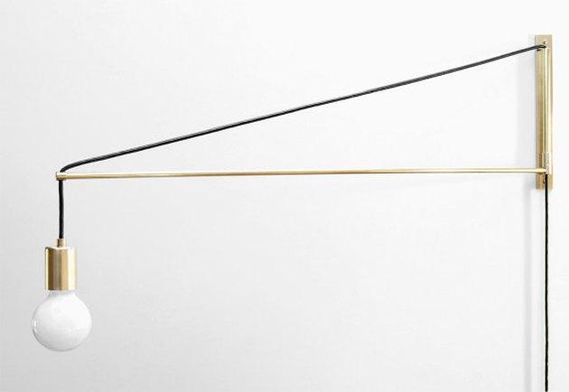 Modern Brass Swing Arm Sconce
