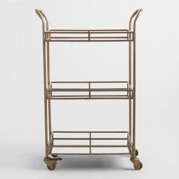 Gold small-scale bar cart from World Market